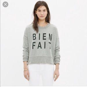 Made well Bien Fait Side Zip Sweatshirt